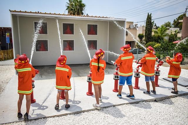 děti hasiči