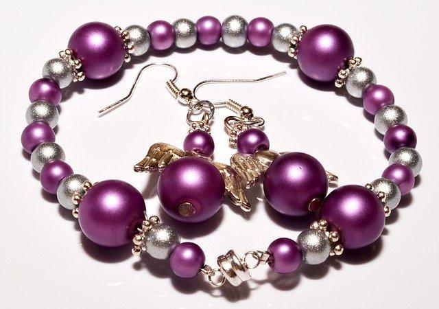 fialovostříbrné šperky
